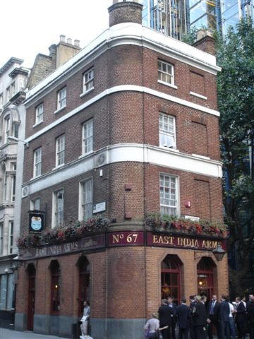 East India Arms, 67 Fenchurch Street - in September 2006