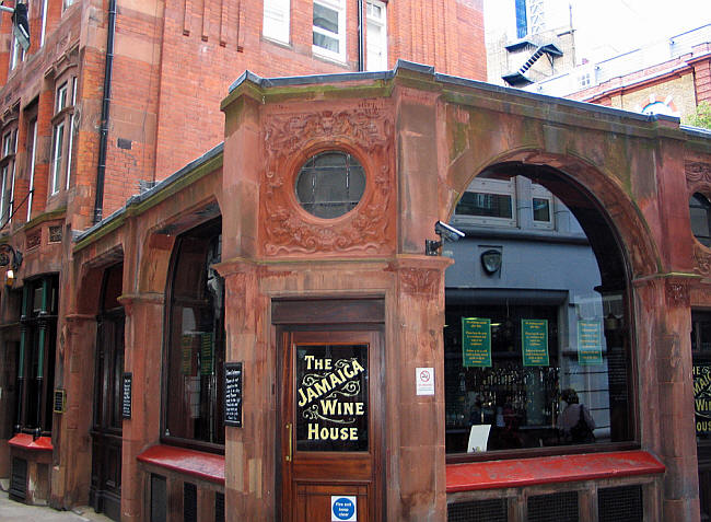 Jamaica Wine House, 12 St Michaels Alley  EC3 - in July 2014
